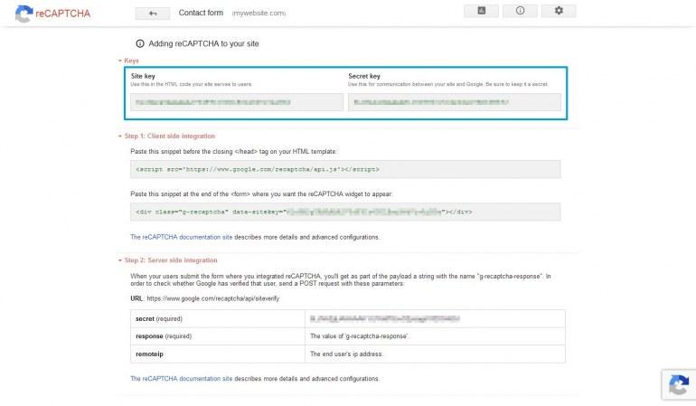 Module PrestaShop reCaptcha Anti Spam System