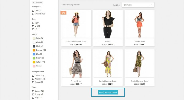 Module PrestaShop Infinite Scroll