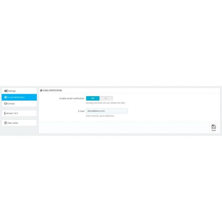 Модуль PrestaShop GDPR Pro