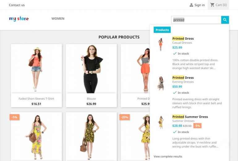 Module PrestaShop Search Pro