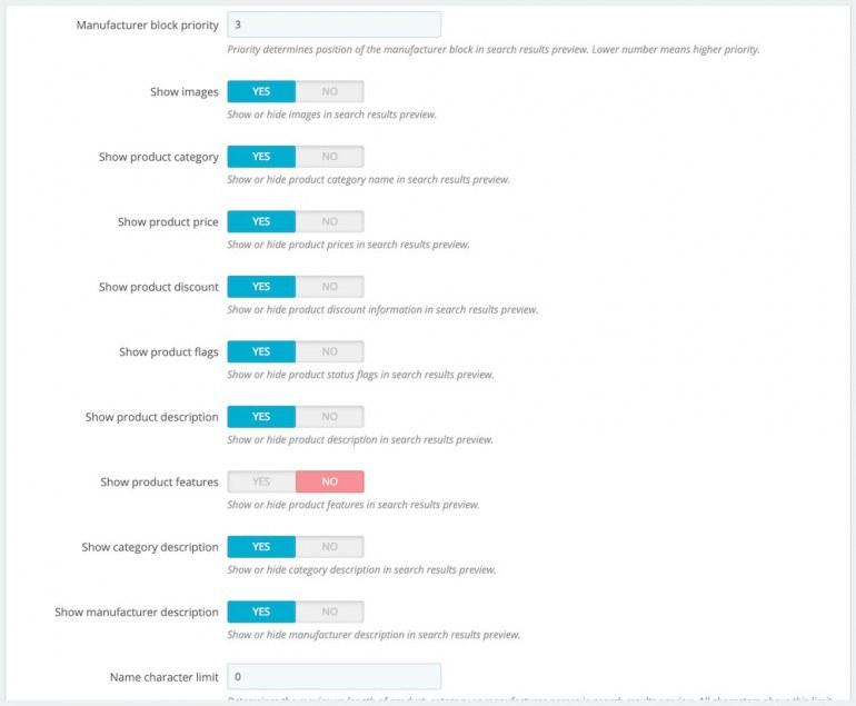 Module PrestaShop Search Pro