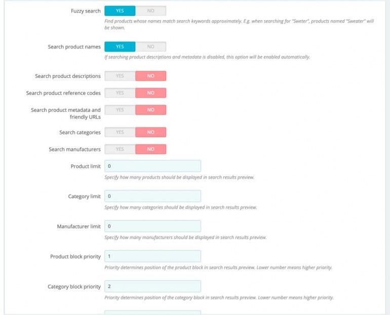 Модуль Поиска PrestaShop Pro версия
