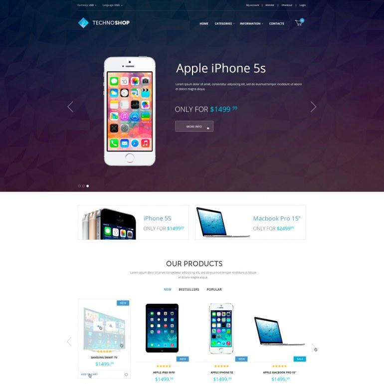 PrestaShop Mobile Template