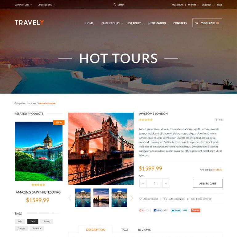 Template PrestaShop Travel