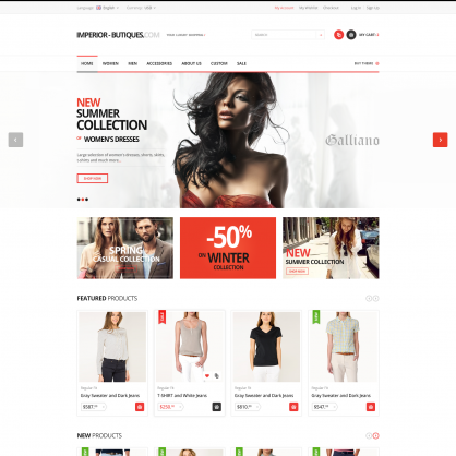 Template PrestaShop Boutique