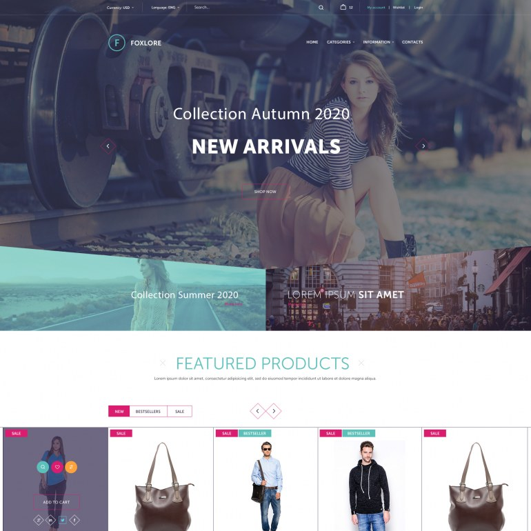 PrestaShop Template Brand Clothes