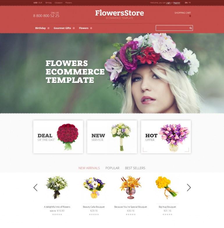 PrestaShop Template Flowers