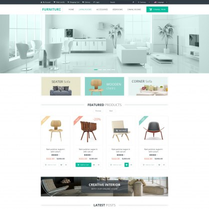 Template PrestaShop Furniture