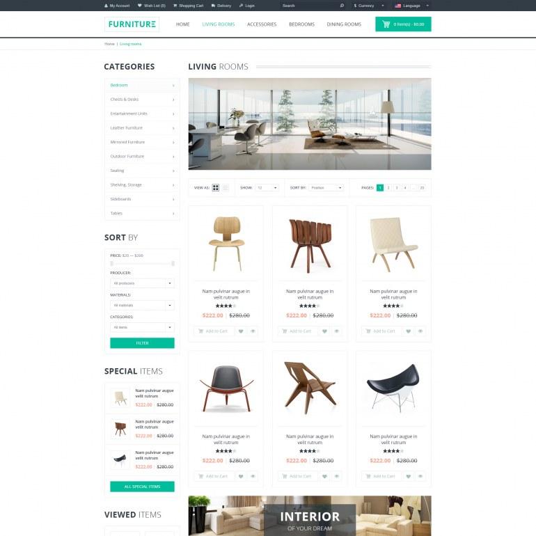 Template PrestaShop Furniture