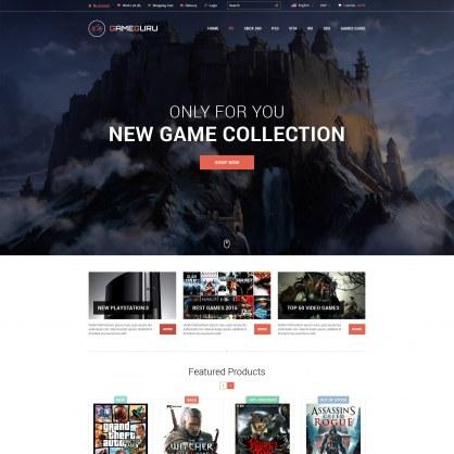Шаблон Prestashop Видео Игры