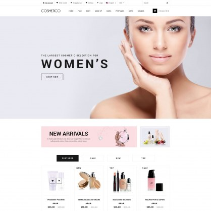 Template PrestaShop Cosmetics