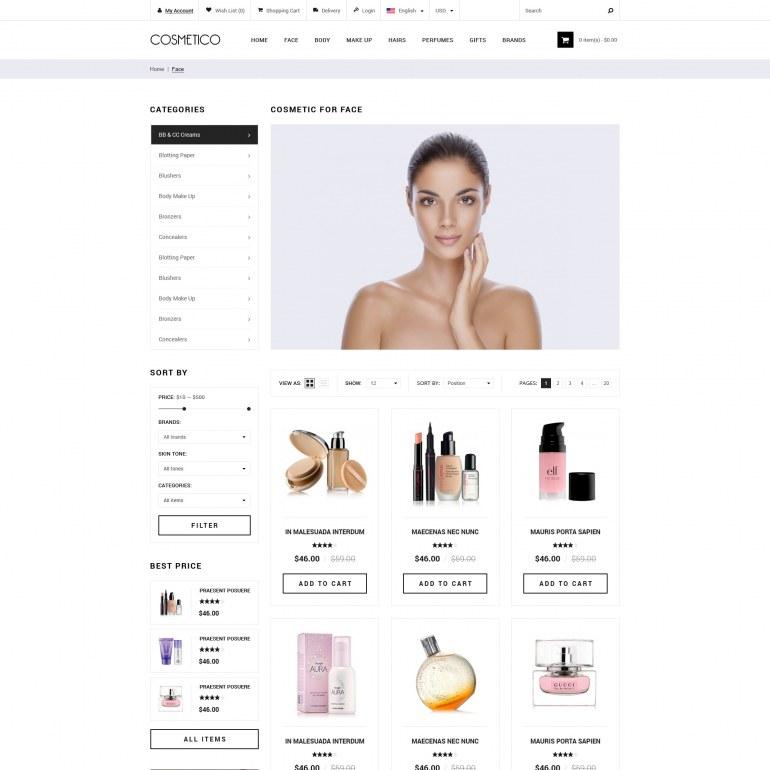 Template PrestaShop Cosmetics