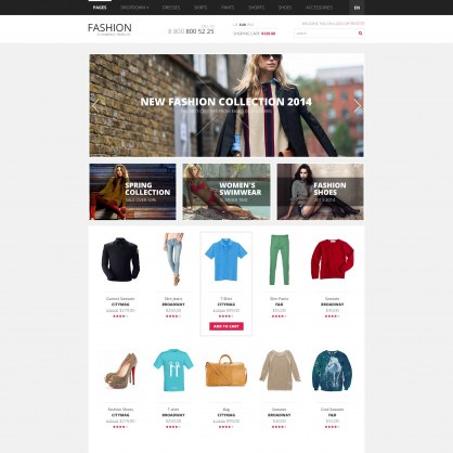 PrestaShop Template Fashion Clothes