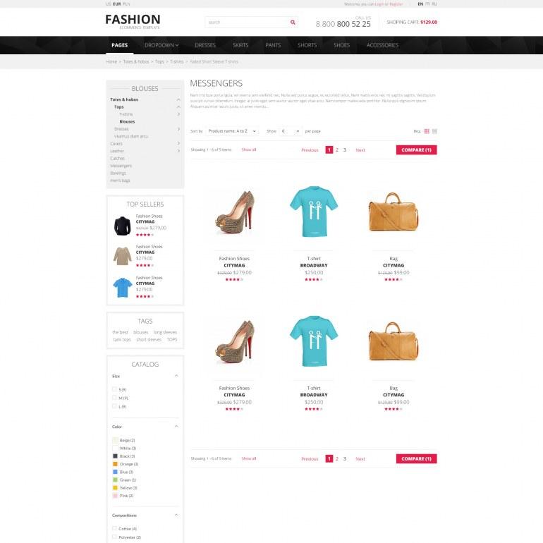 Шаблон Prestashop Модная Одежда