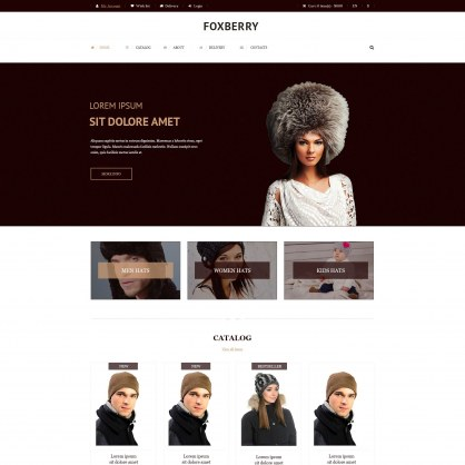 Hats Store PrestaShop Theme
