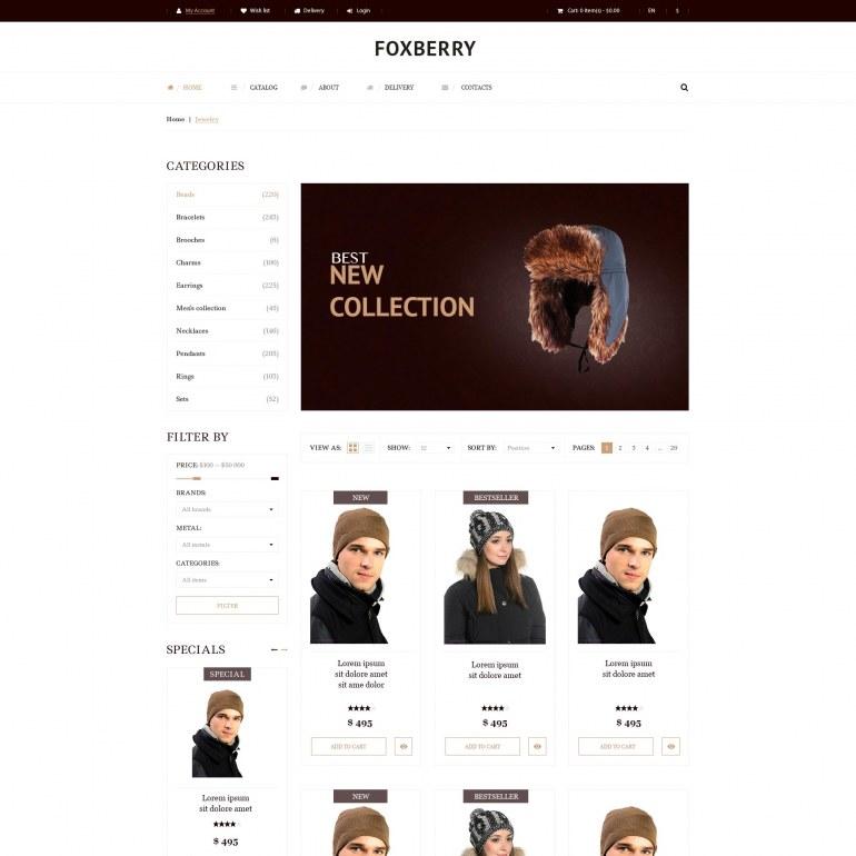 Hats Store PrestaShop Theme