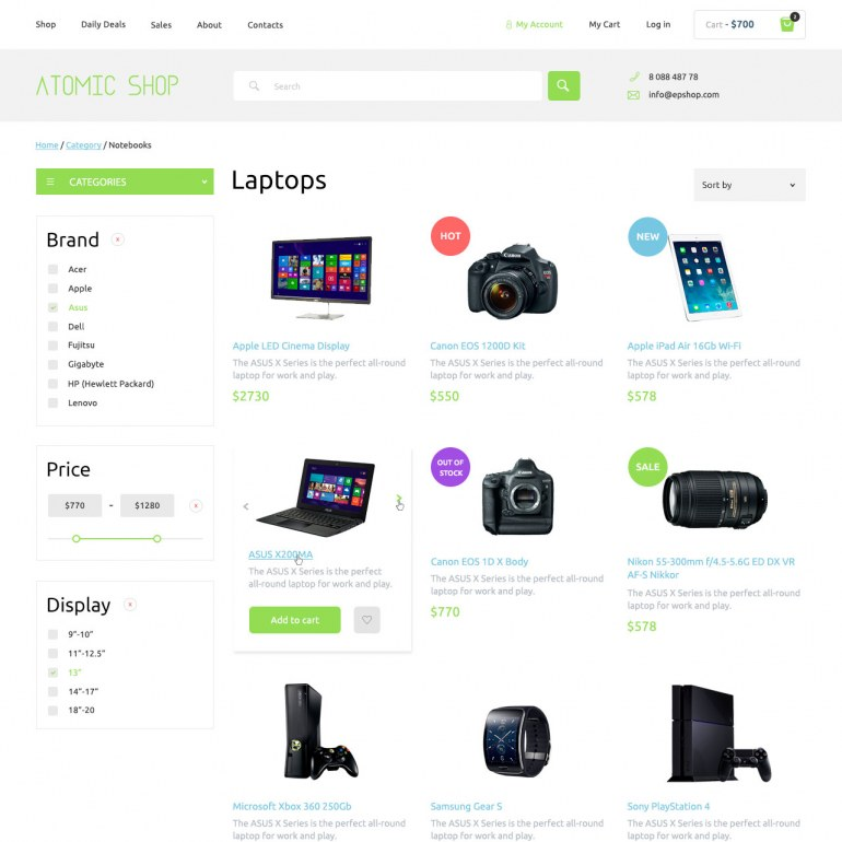 High-tech PrestaShop Responsive Theme