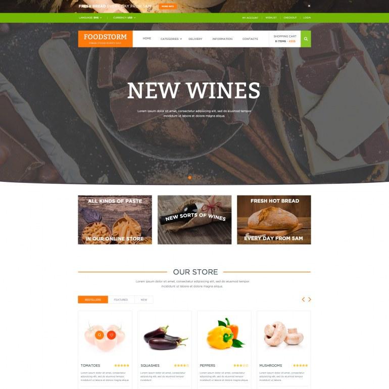 Food Store PrestaShop Responsive Theme