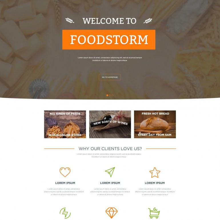 Шаблон Prestashop для Продовольственного магазина