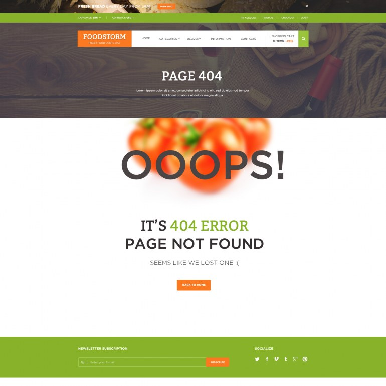 Food Store PrestaShop Responsive Theme