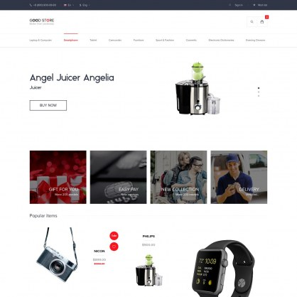 PrestaShop Digital Shop