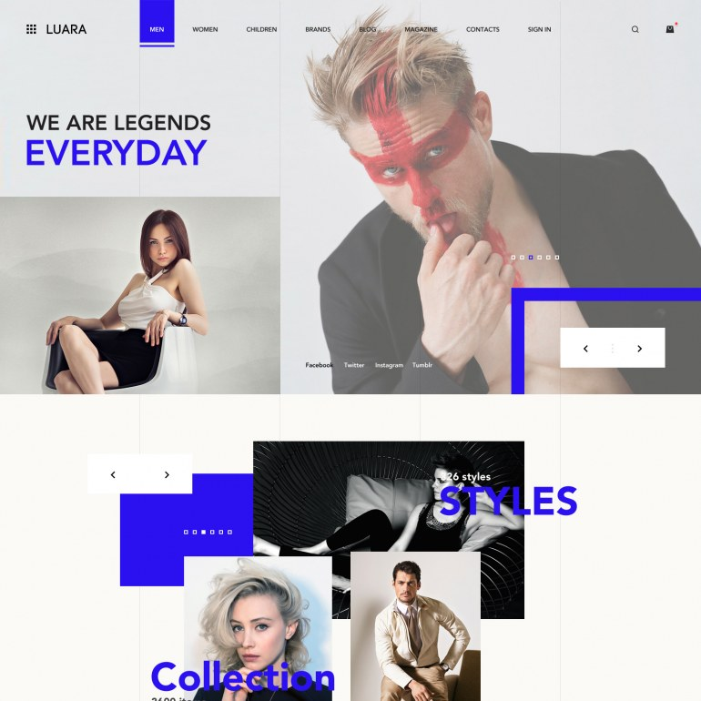 Luxury PrestaShop Clothes Theme