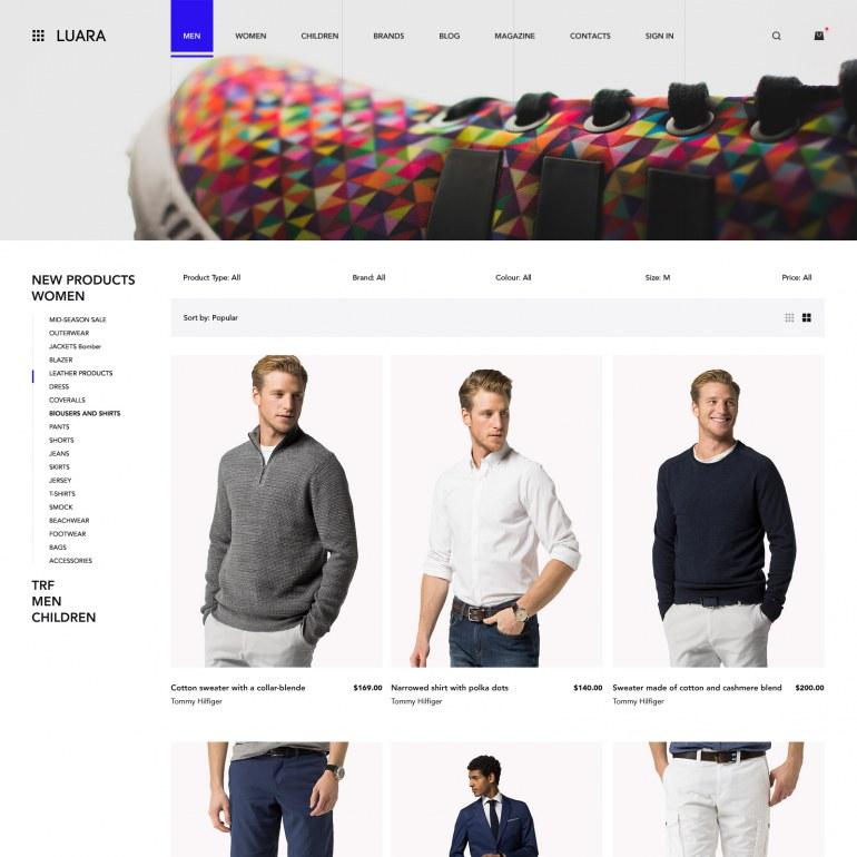 Шаблон Prestashop для Магазина роскошной одежды