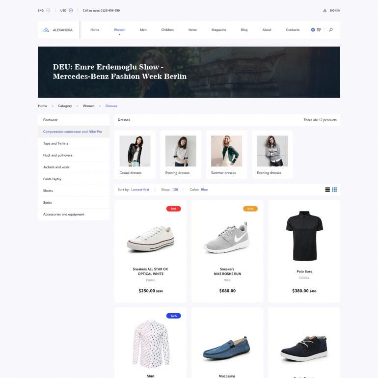 PrestaShop Responsive Theme Clothes