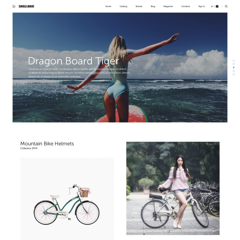 Surfing PrestaShop Theme