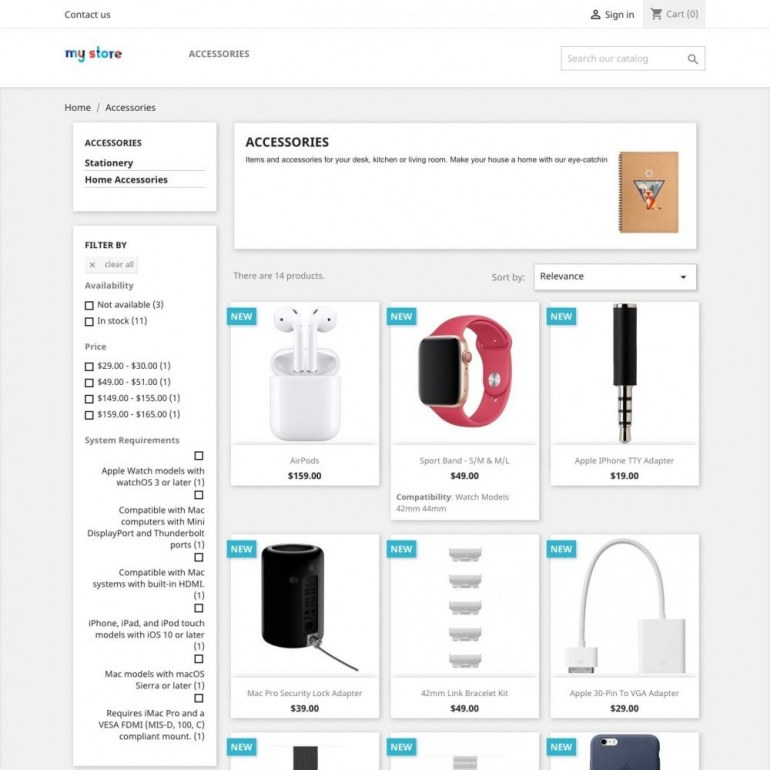 Product Features List