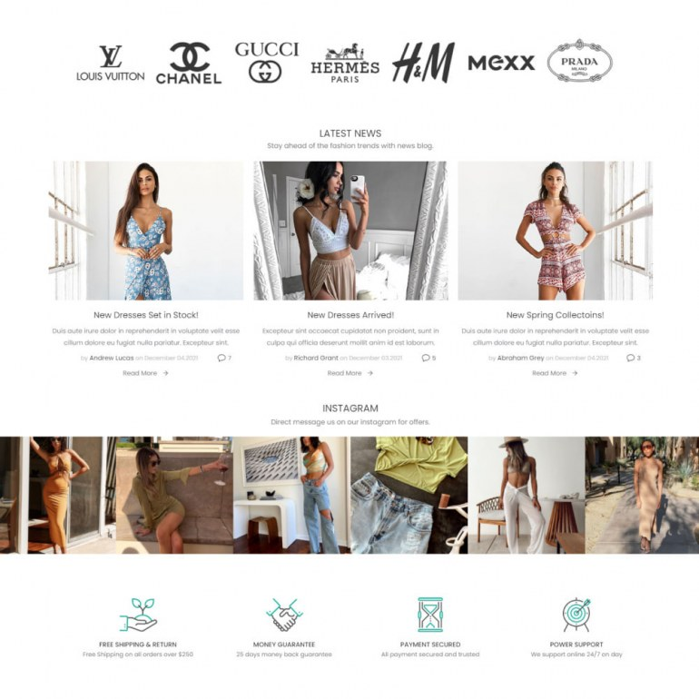 Prestashop Template Nastya Fashion - Clothes & Shoes, Jewelry & Watch, Bags