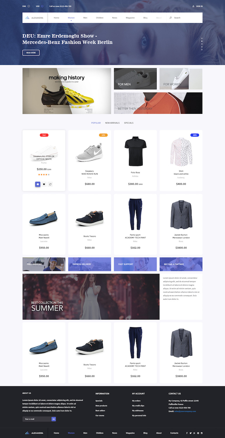 PrestaShop Responsive Theme Clothes