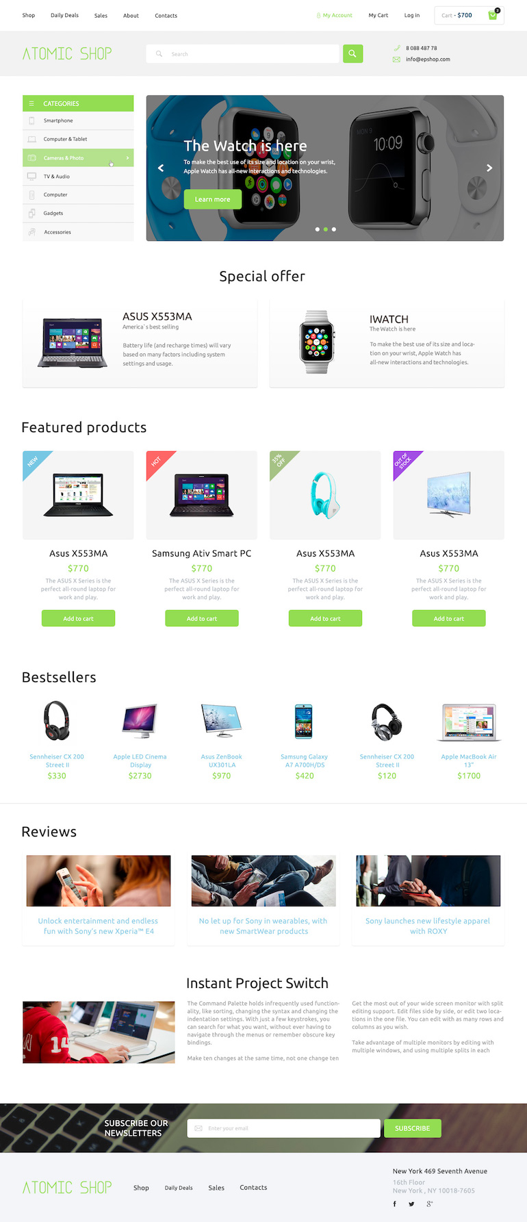 High-tech PrestaShop Responsive Theme