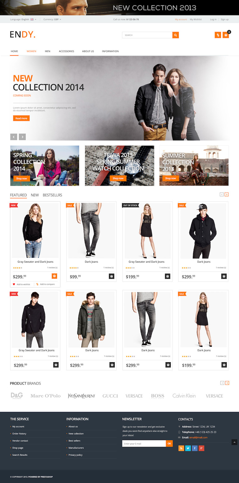 Template PrestaShop Apparel