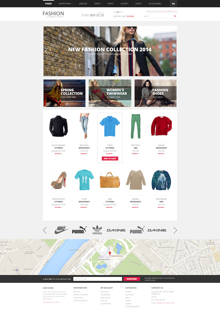 PrestaShop Template Trendy Clothes