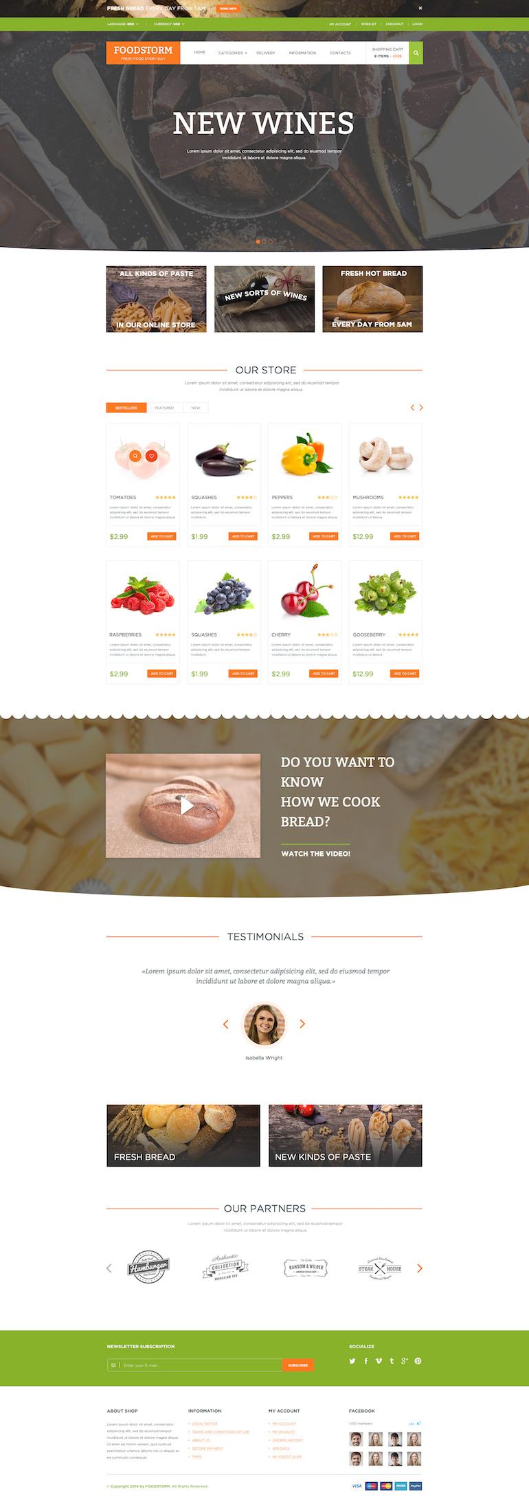 Food Store PrestaShop Responsive