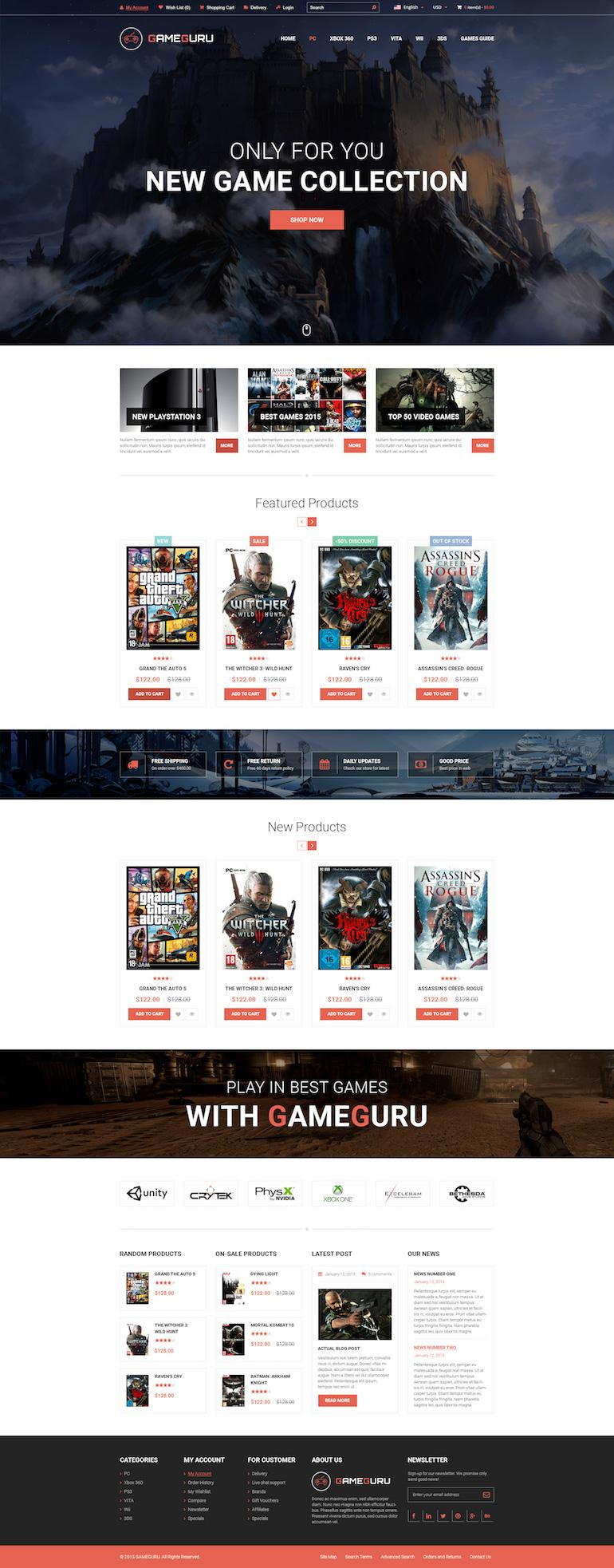 Template PrestaShop Video Game