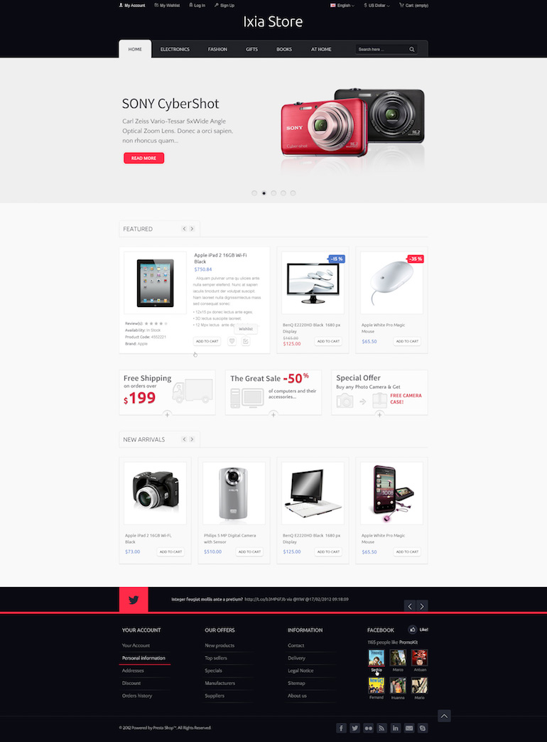 Template PrestaShop Hi-tech