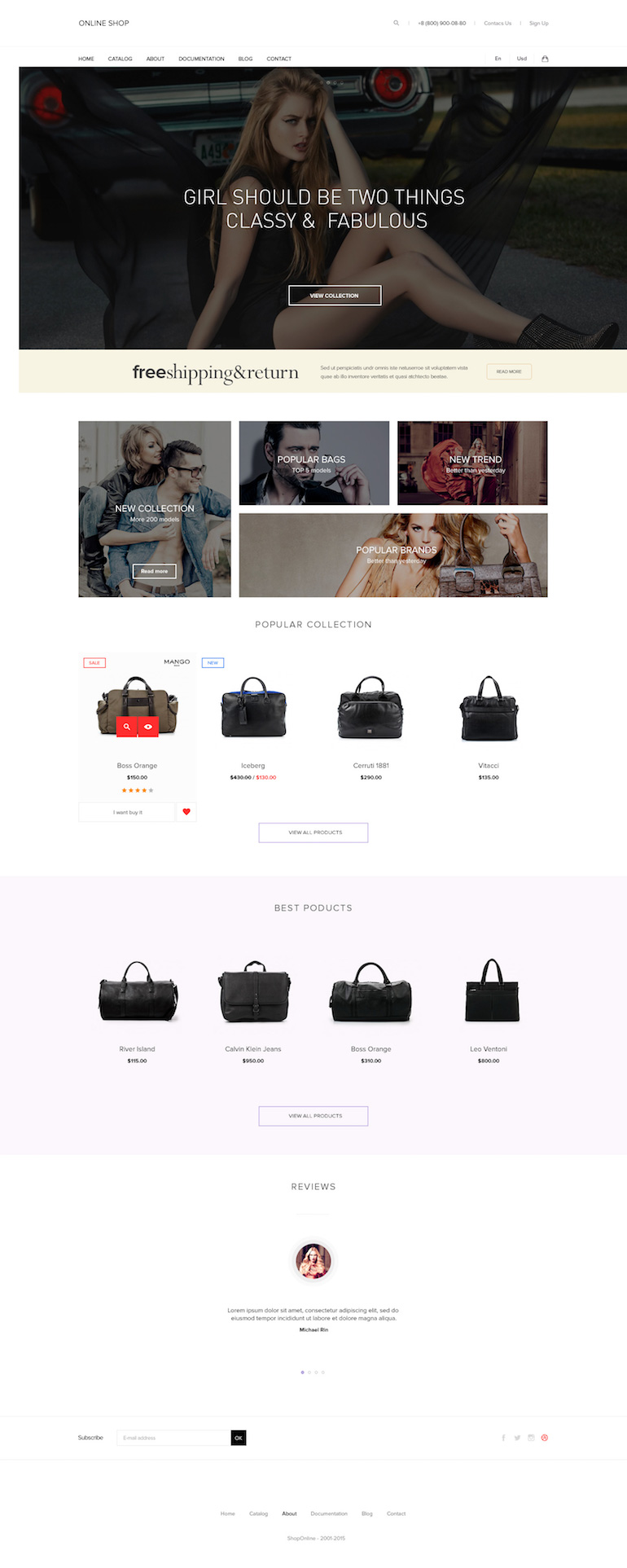 HandBags PrestaShop Theme