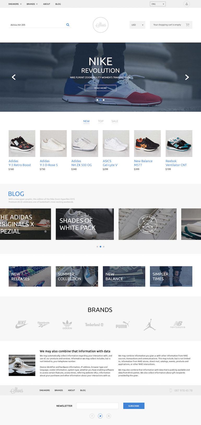 Responsive PrestaShop Template Shoes