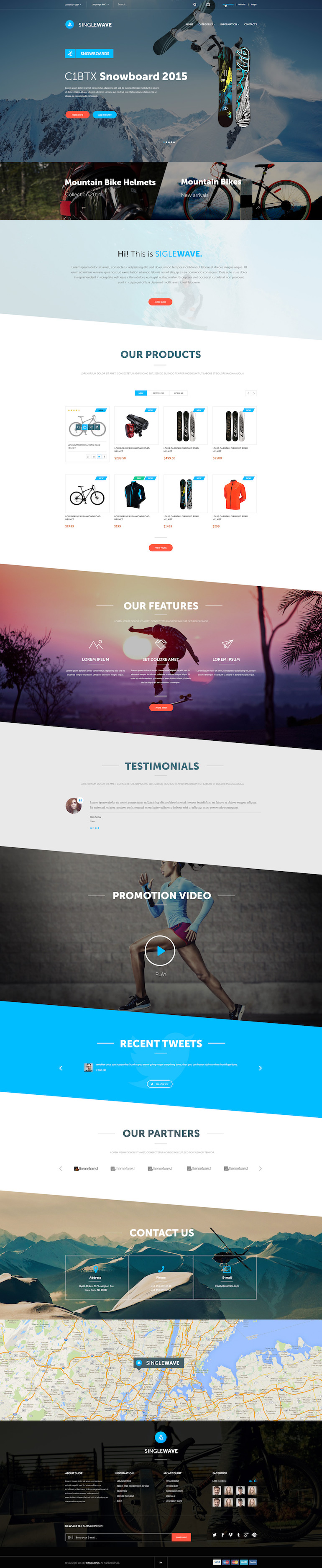 PrestaShop Template Sport
