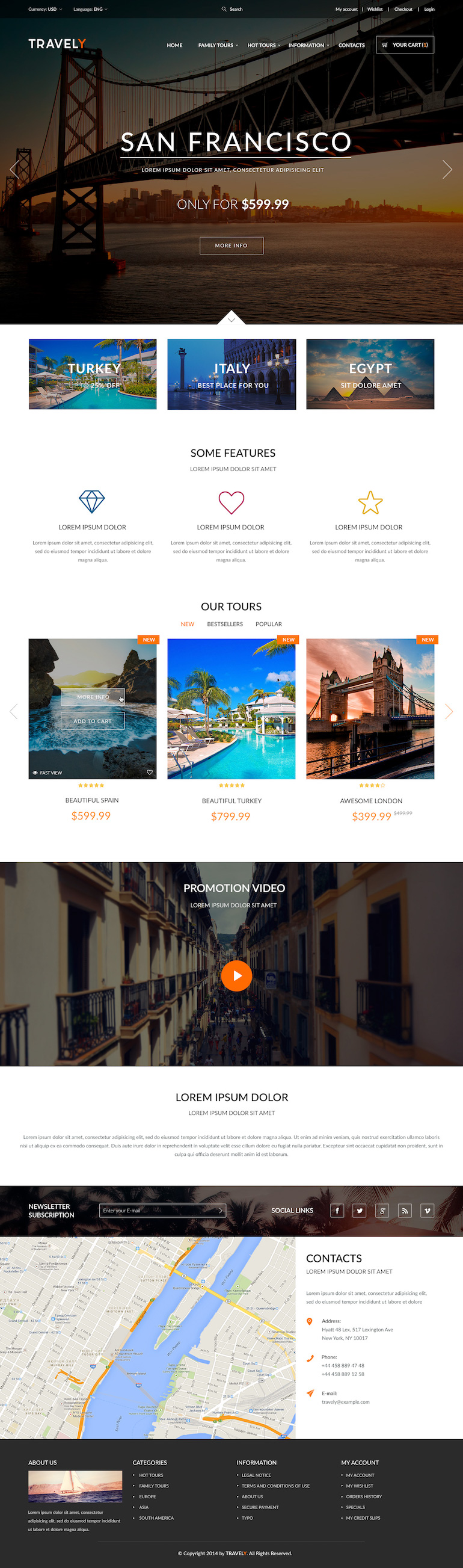 Template PrestaShop Travel