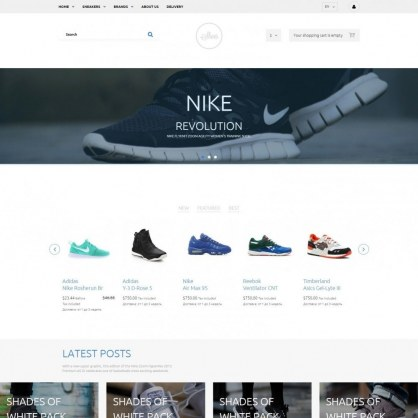 Shop Fashionable Shoes Template